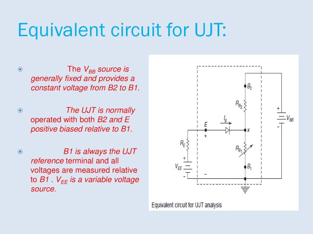 Industrial Electronics And Control Of Drives Ppt Download Characteristics A Ujt Equivalent Circuit For