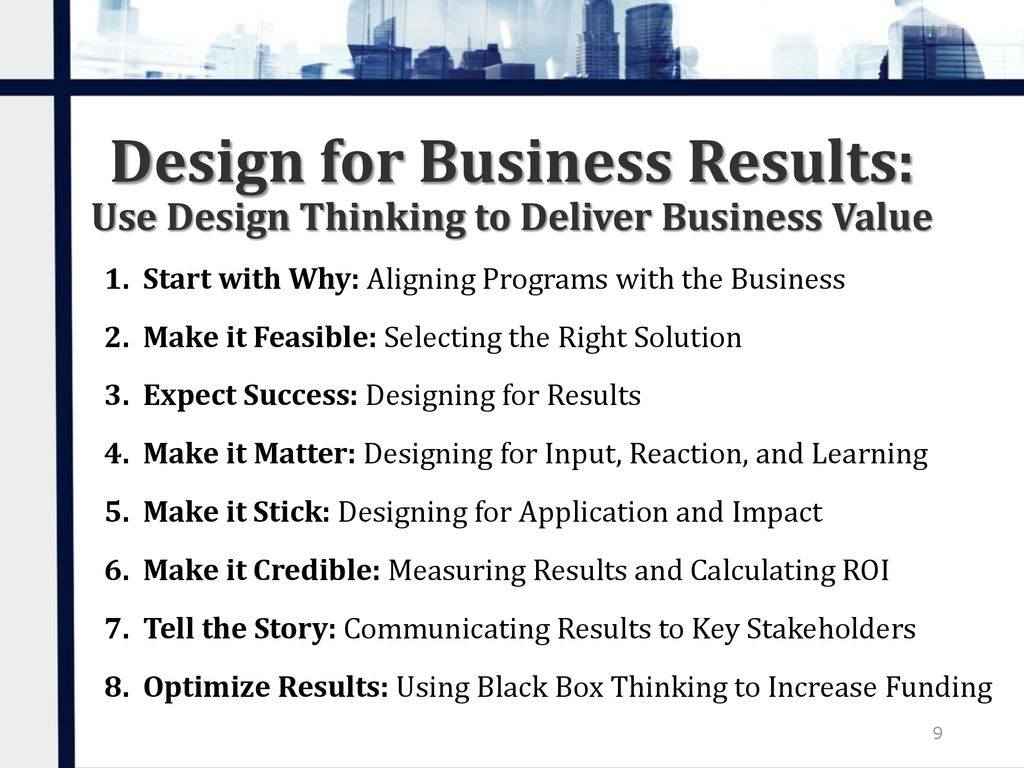 Using Design Thinking to Deliver Business Results - ppt download