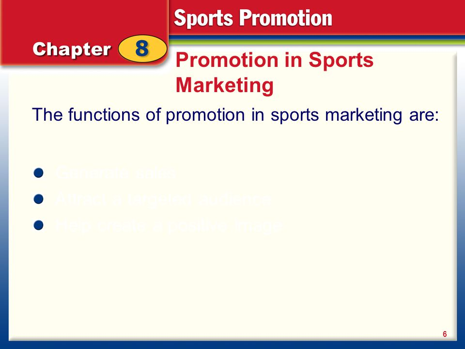 Promotion in Sports Marketing