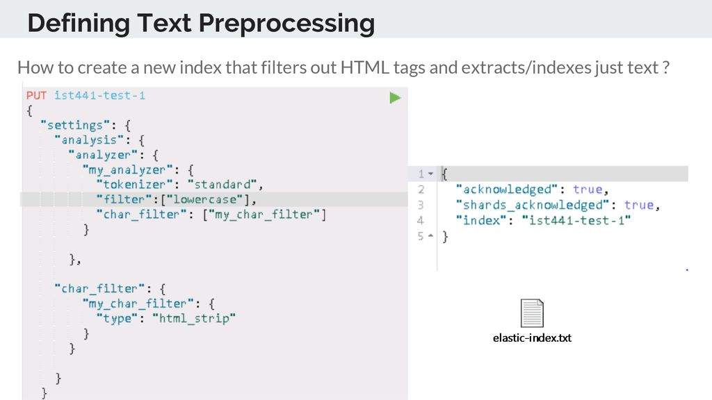 Indexing with Elasticsearch - ppt download