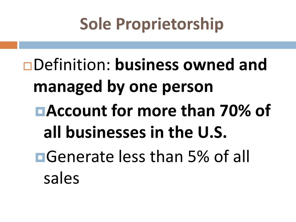 8-1: sole proprietorship - ppt download
