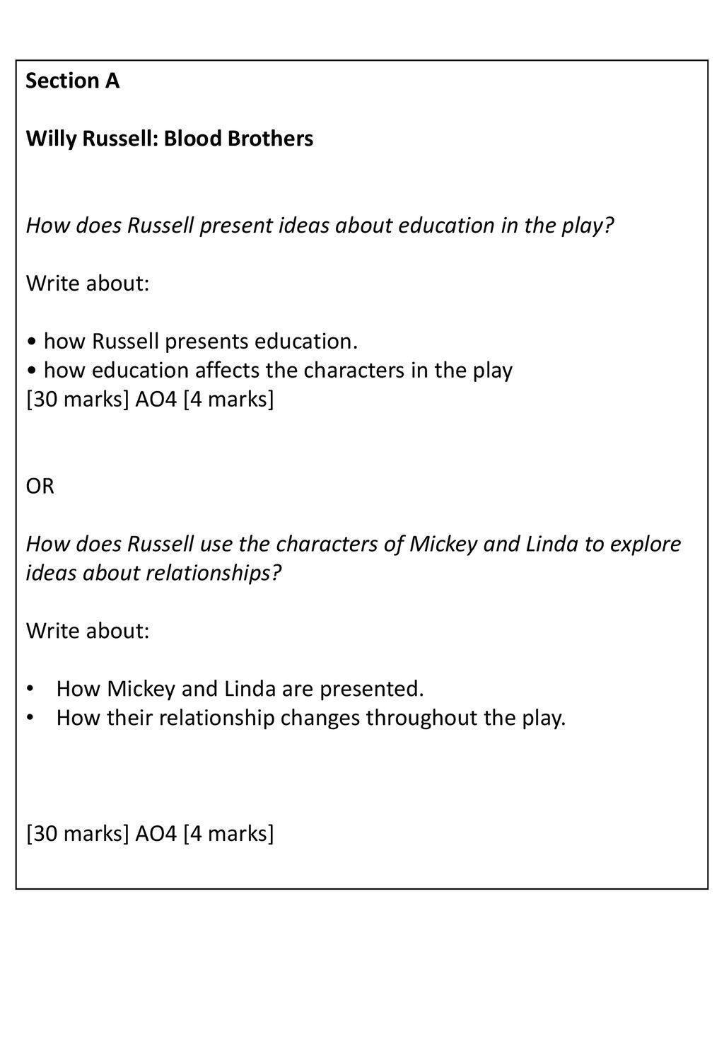 GCSE English Literature 8702/2 - ppt download