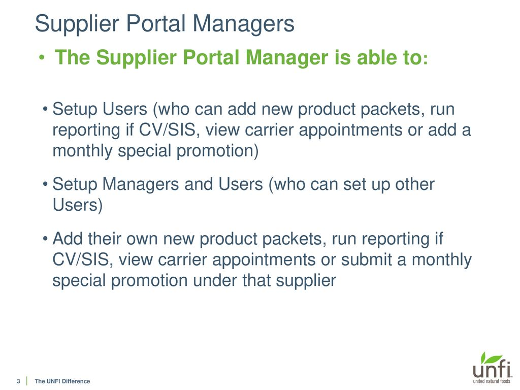 Supplier Portal User Guide - Manager - ppt download