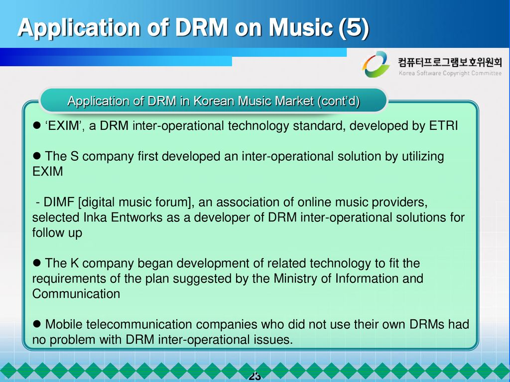 Showcasing a National Experience : Development of DRM Standards