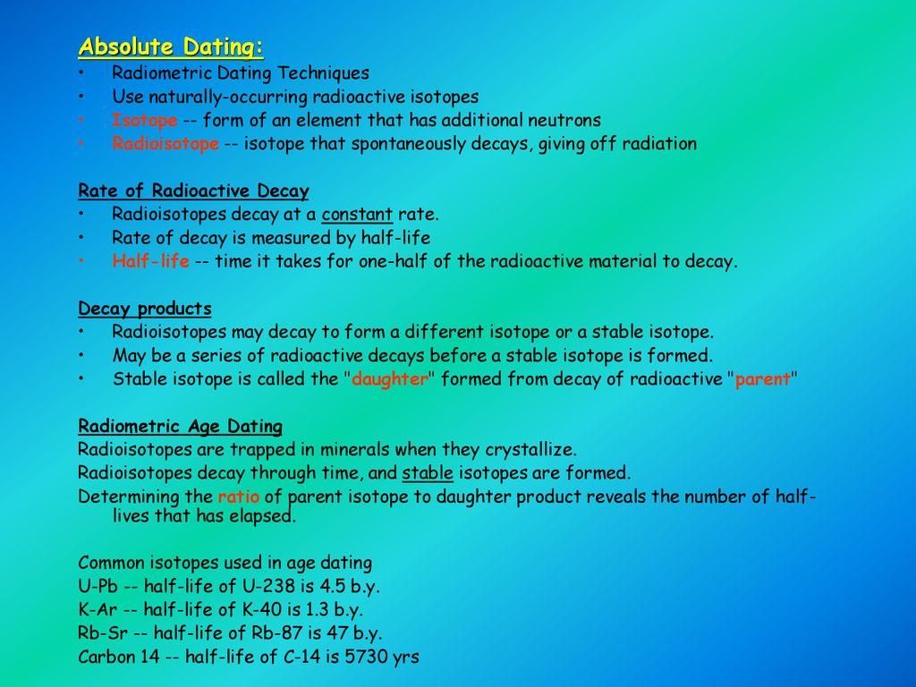Rubidium-87 radiometric dating