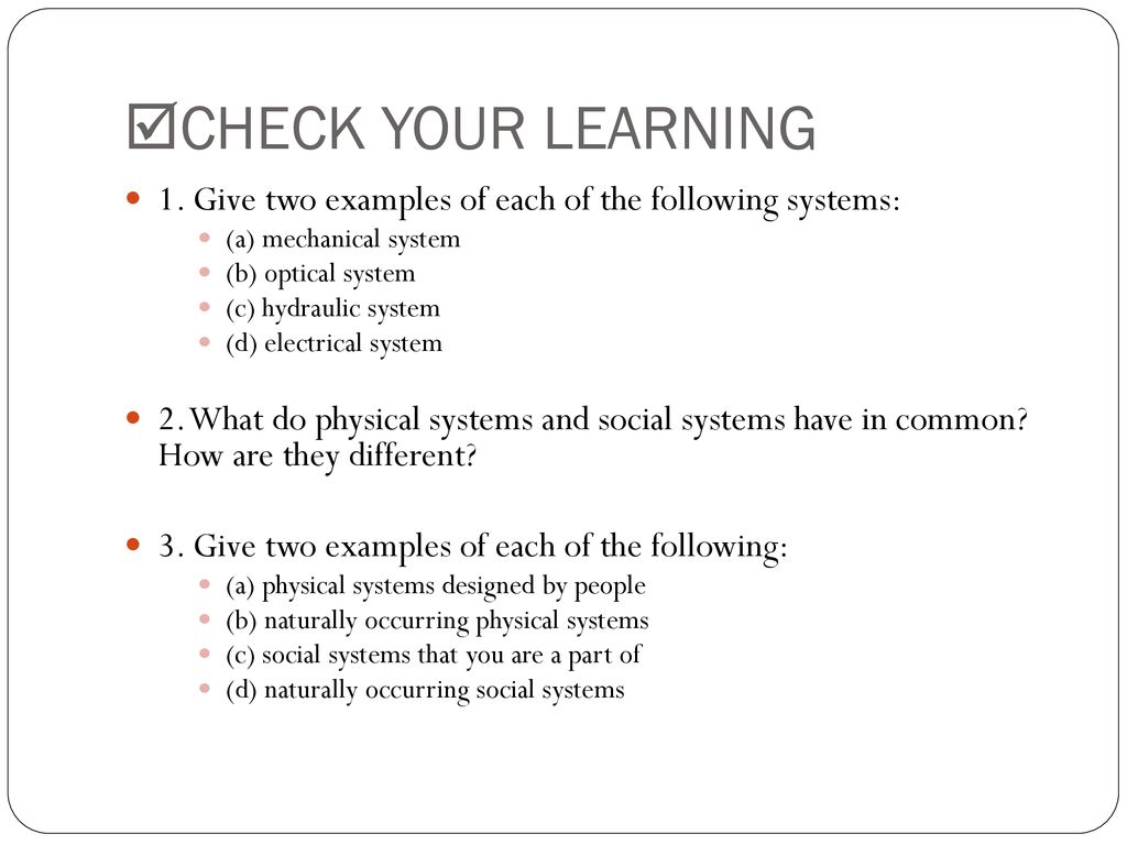 How Are Physical Systems Like Social Systems Ppt Download