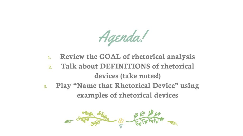 rhetorical devices and definitions