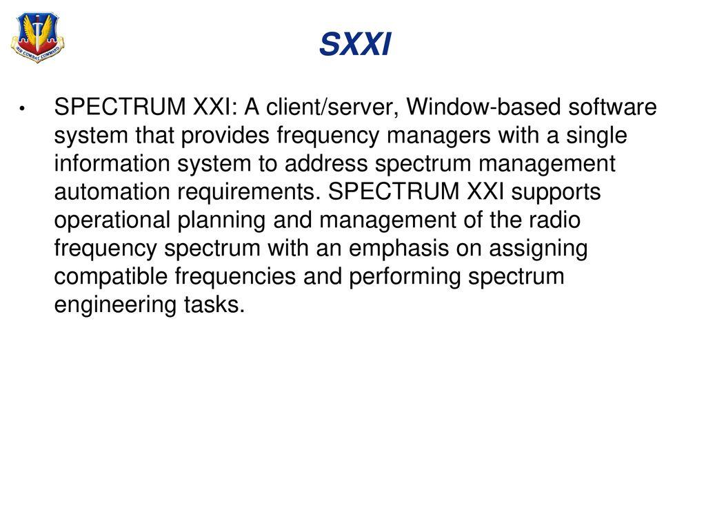 AFAUX/CAP SPECTRUM OPERATIONS - ppt download