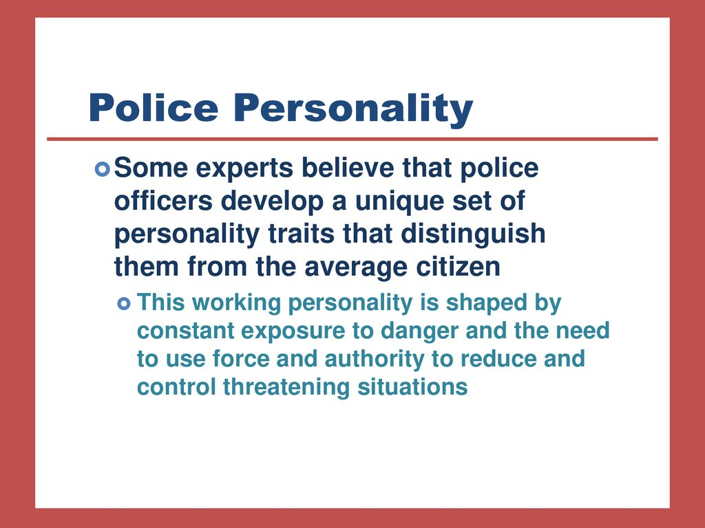 police personality