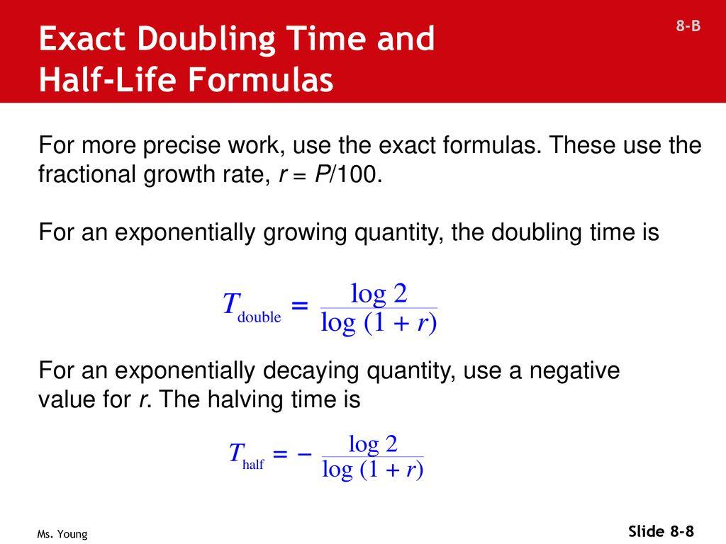 Math half life formula