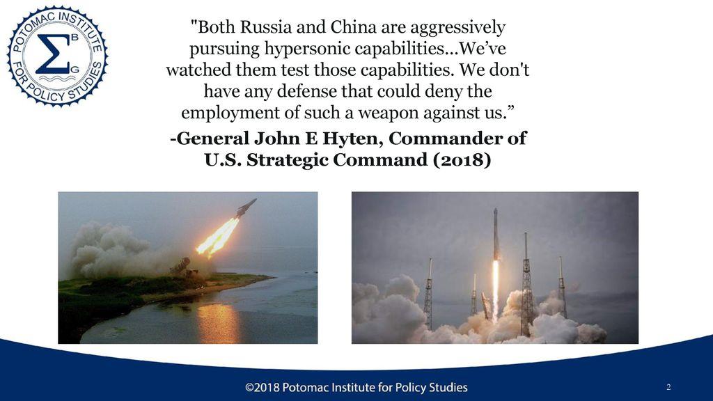 General John E Hyten, Commander of U S  Strategic Command