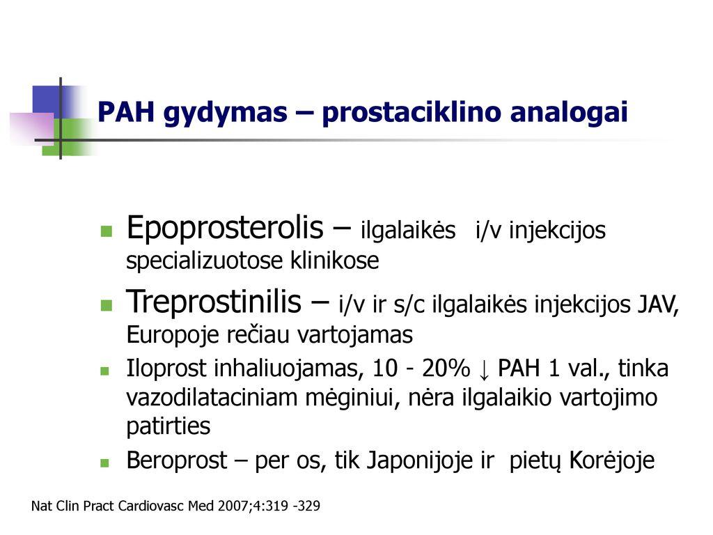 c. injekcijos dėl hipertenzijos