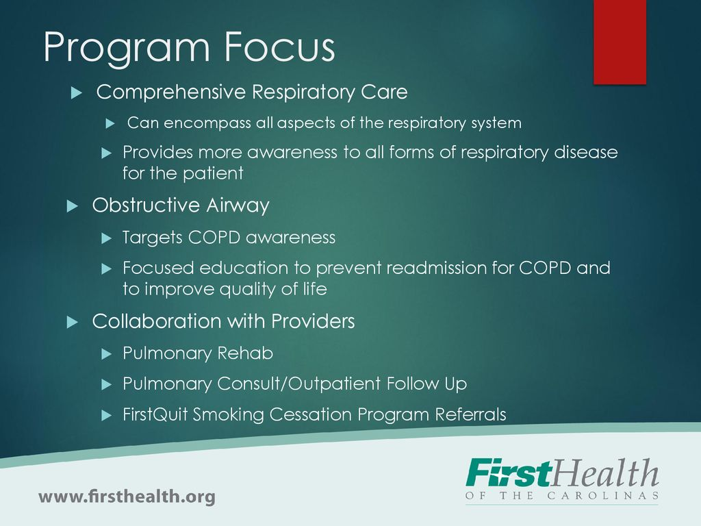 COPD Readmission Reduction Project - ppt download