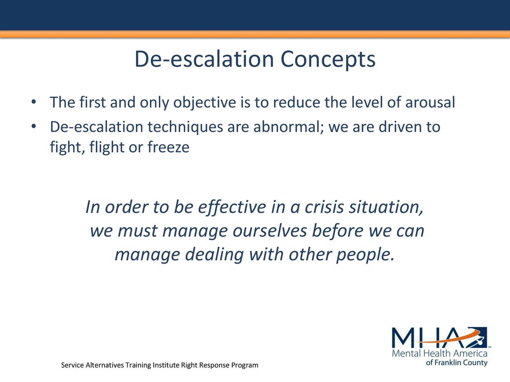 Mental Health De Escalation Ppt Download