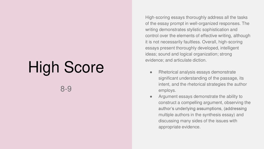 how to approach each writing task   ppt download  high scoring essays thoroughly address all the tasks of the essay prompt  in well organized responses the writing demonstrates stylistic  sophistication
