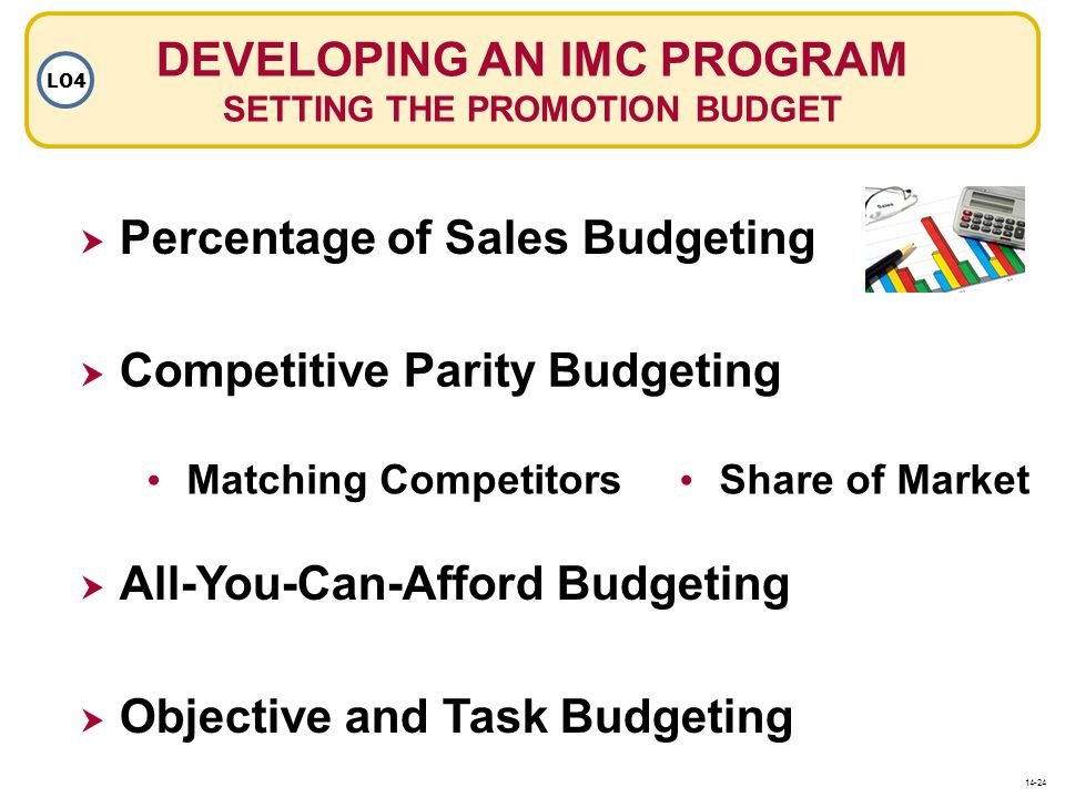 DEVELOPING AN IMC PROGRAM SETTING THE PROMOTION BUDGET