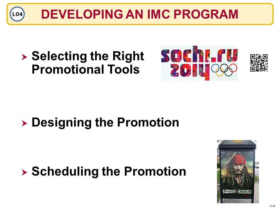 DEVELOPING AN IMC PROGRAM