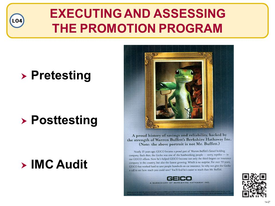 EXECUTING AND ASSESSING THE PROMOTION PROGRAM