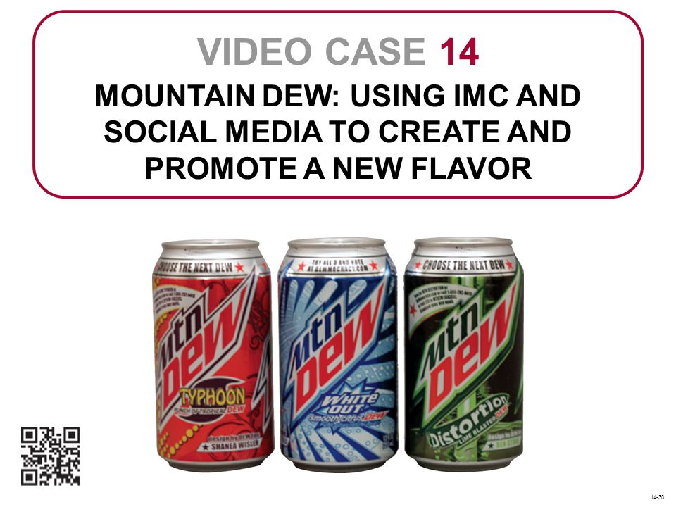 MOUNTAIN DEW: USING IMC AND SOCIAL MEDIA TO CREATE AND PROMOTE A NEW FLAVOR