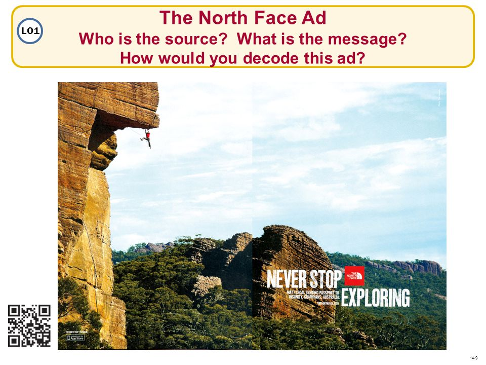 The North Face Ad Who is the source. What is the message