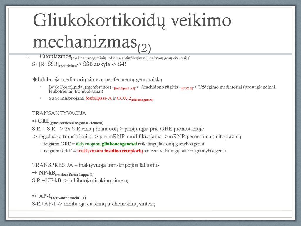 hipertenzija ir gliukokortikoidai