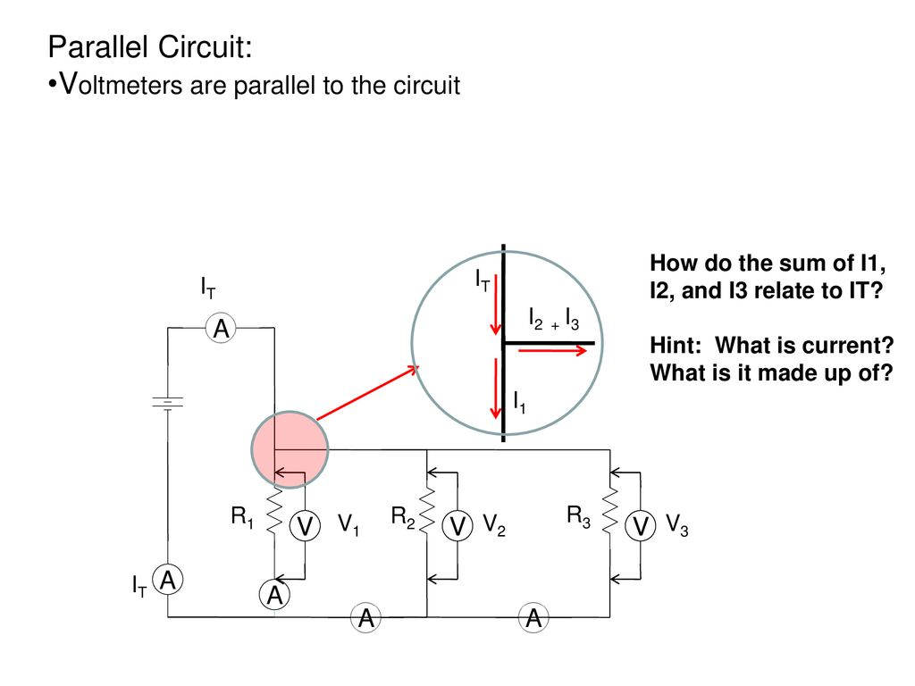 Series And Parallel Circuits Ppt Download Circuit Picture Voltmeters Are To The