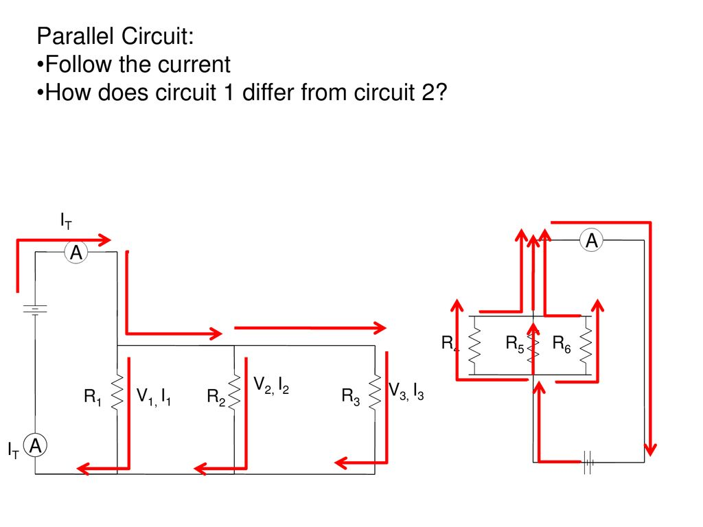 Series And Parallel Circuits Ppt Download Resistors In R1 R2 R3 There Is A Current Of I1 I2 I3 V1 It How Does Circuit 1 Differ From 2