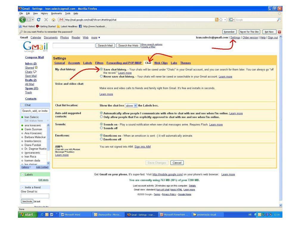 Primjeri chat stranica