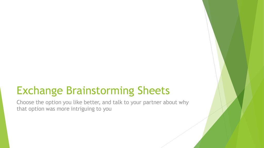 Warm Up Complete The Brainstorming Sheet Ppt Download