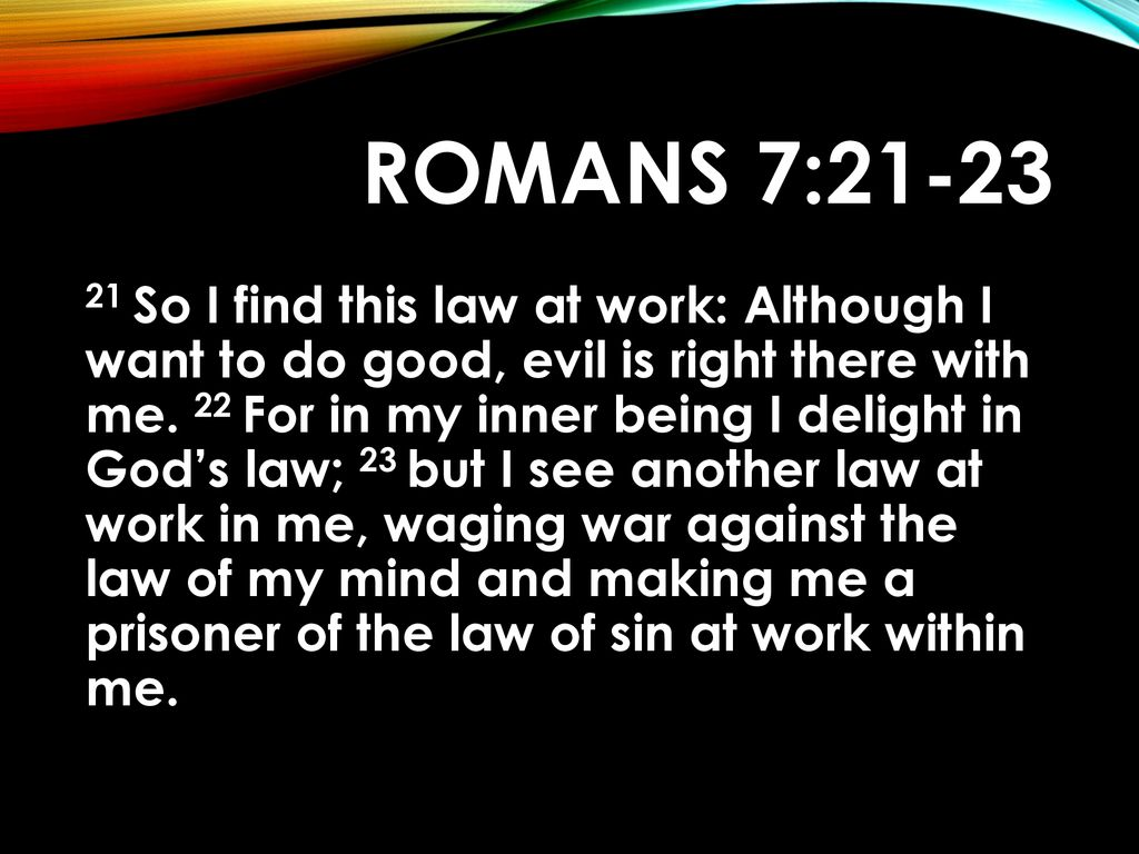 "Image result for ""ROMANS 7:21"""