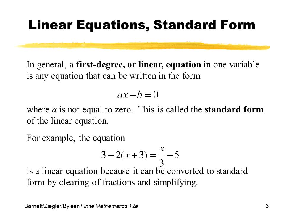 Chapter 1 Linear Equations And Graphs Ppt Download