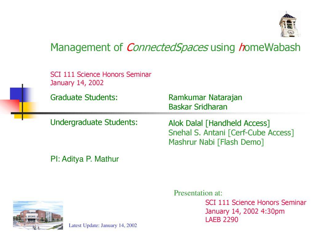 Management of ConnectedSpaces using homeWabash - ppt download