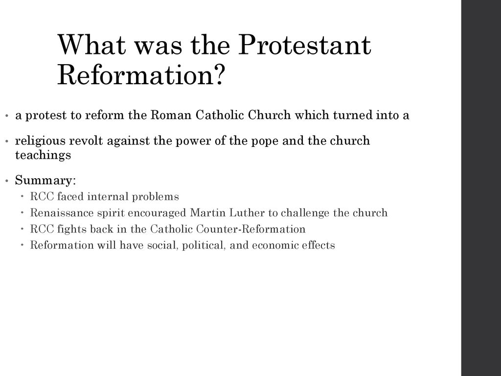 summary of the counter reformation