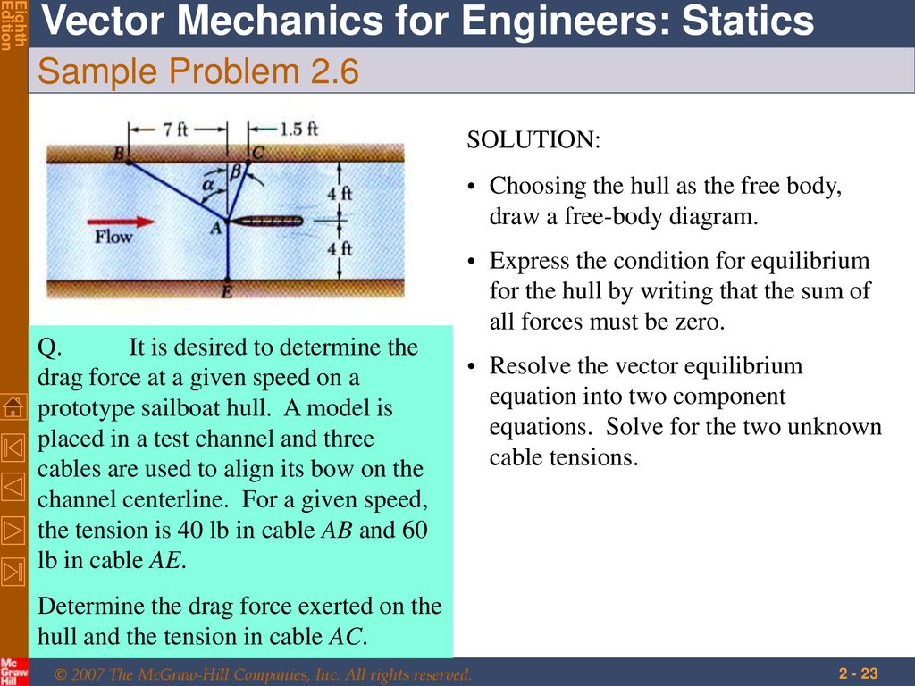 Statics Of Particles Ppt Download Engineering Problem Solutions Free Body Diagram Equilibrium Sample 26 Solution