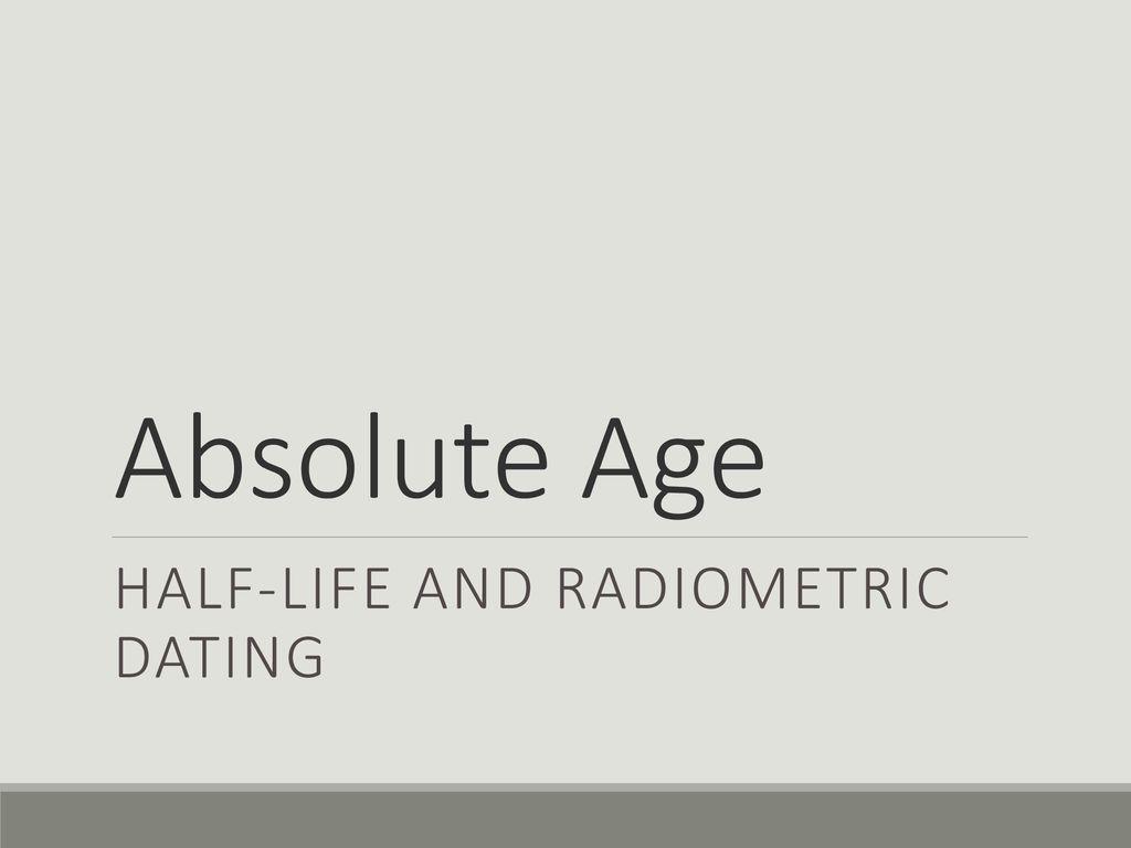 Half-Life gebruikt in radiometrische dating LGBT dating online