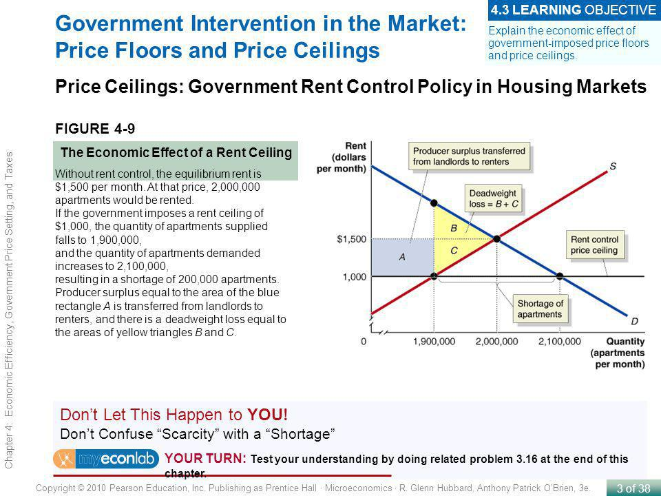 4 Economic Efficiency Government Price Setting And Taxes