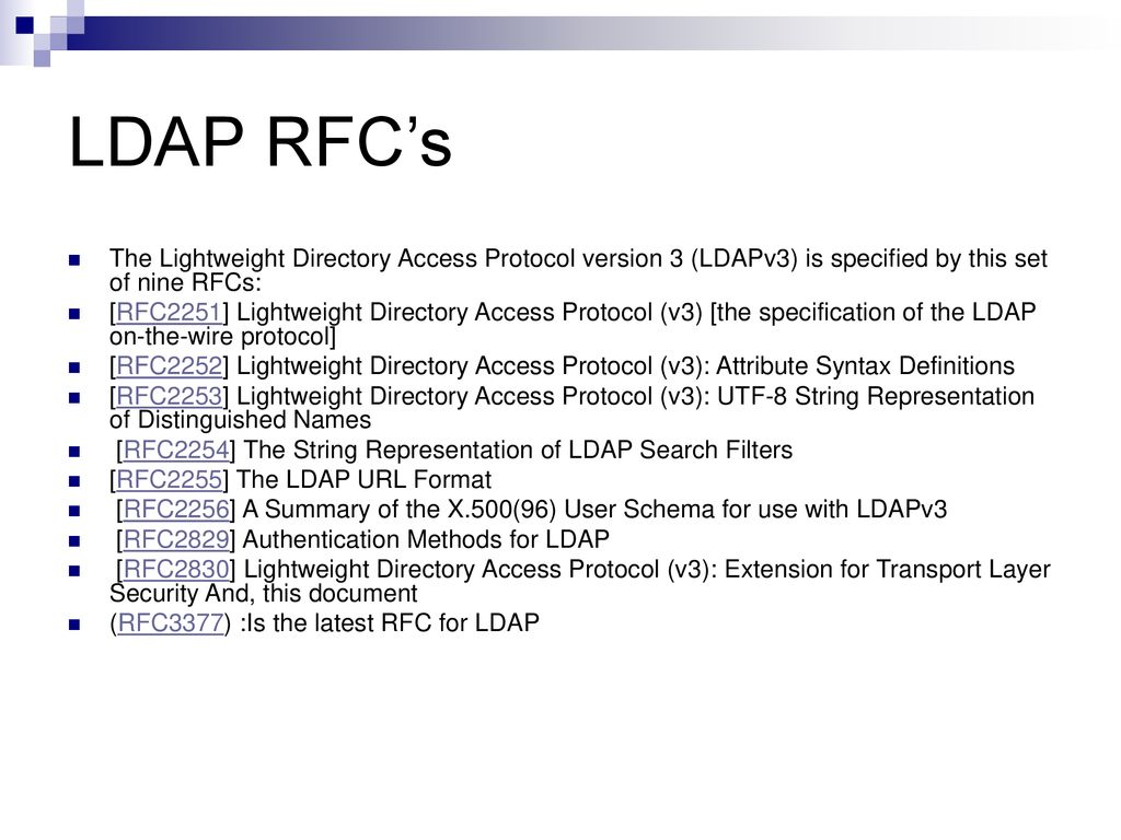LDAP – Light Weight Directory Access Protocol - ppt download