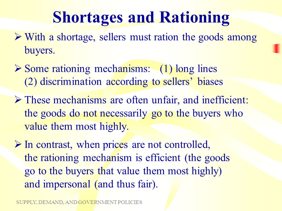 Shortages and Rationing
