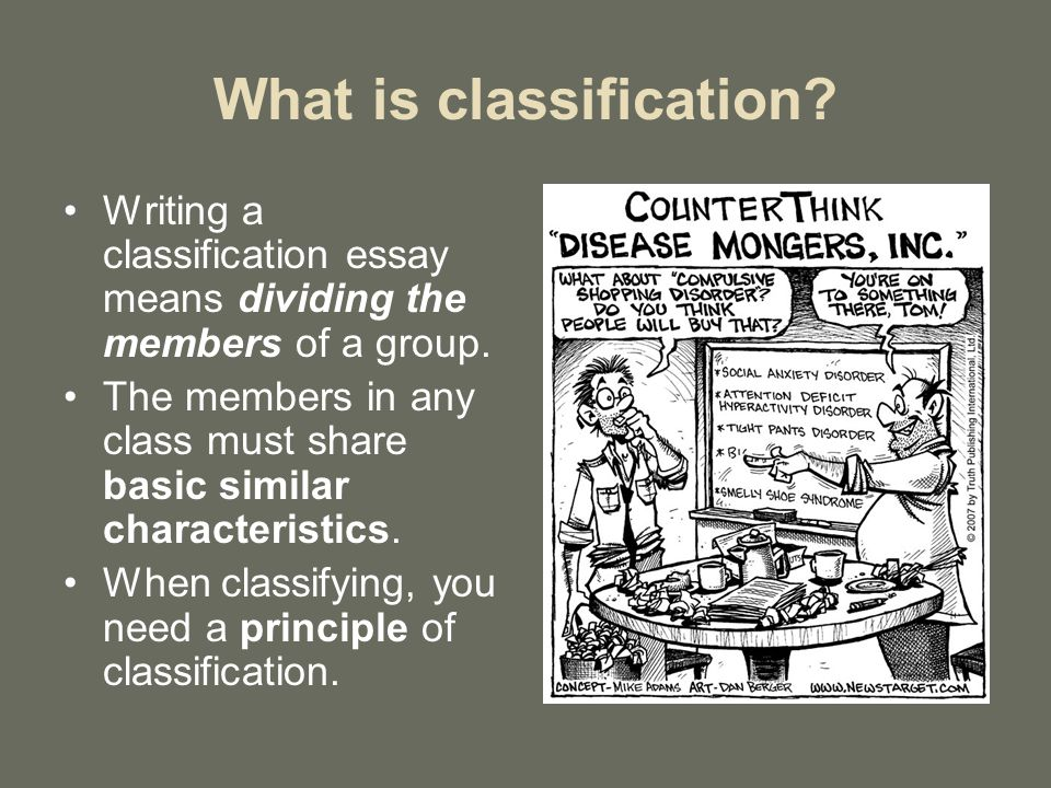 Classification Essay  Ppt Video Online Download What Is Classification