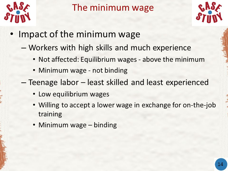Impact of the minimum wage