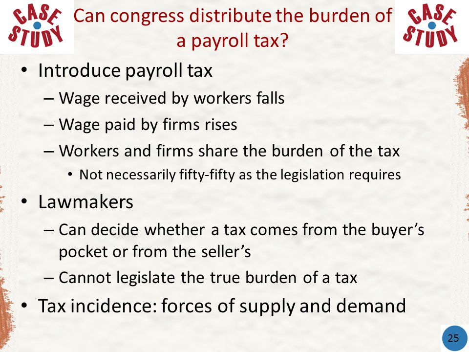 Can congress distribute the burden of a payroll tax