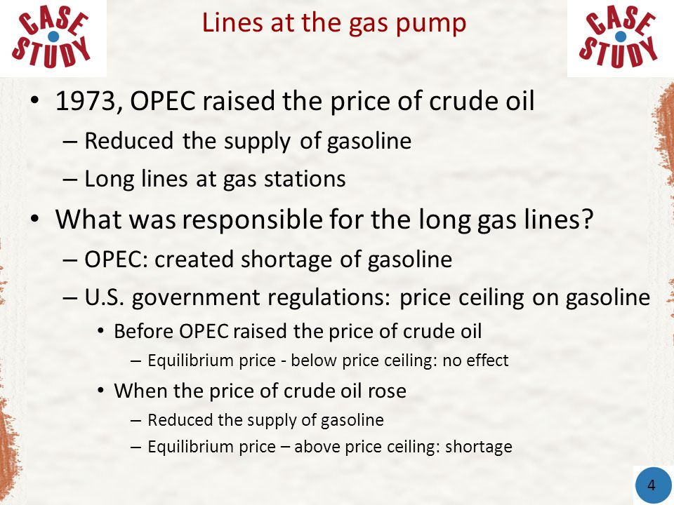 1973, OPEC raised the price of crude oil
