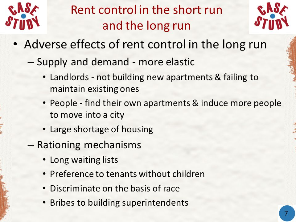 Rent control in the short run and the long run