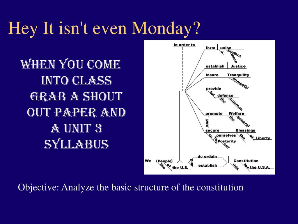 d0967b5a9 When you come into class grab a shout out paper and a Unit 3 Syllabus