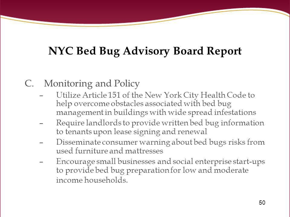 Bed bugs in the workplace ppt download nyc bed bug advisory board report spiritdancerdesigns Gallery