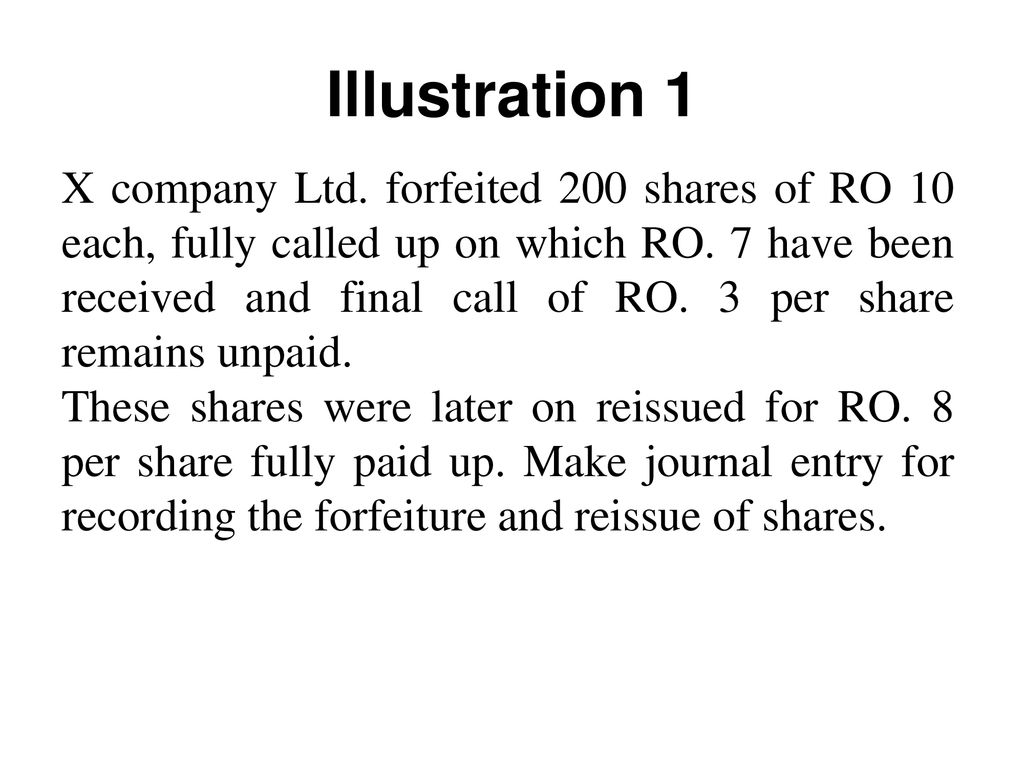 unpaid calls on shares