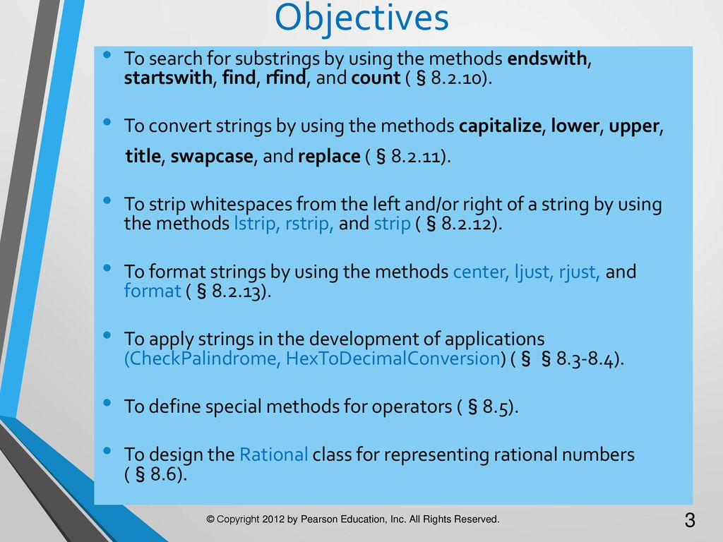 Chapter 8 More on Strings and Special Methods - ppt download