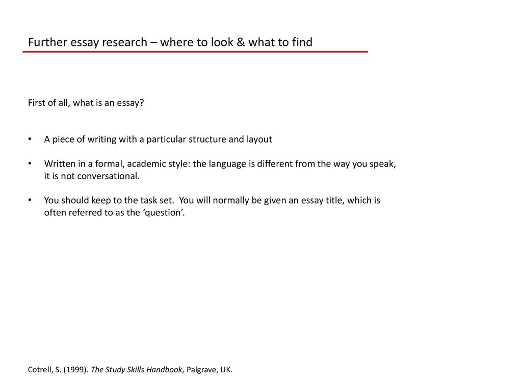 How To Write A College Essay Paper Further Essay Research  Where To Look  What To Find Process Essay Example Paper also Essay On Terrorism In English Essay Research  Where To Look  What To Find  Ppt Download Research Paper Essay
