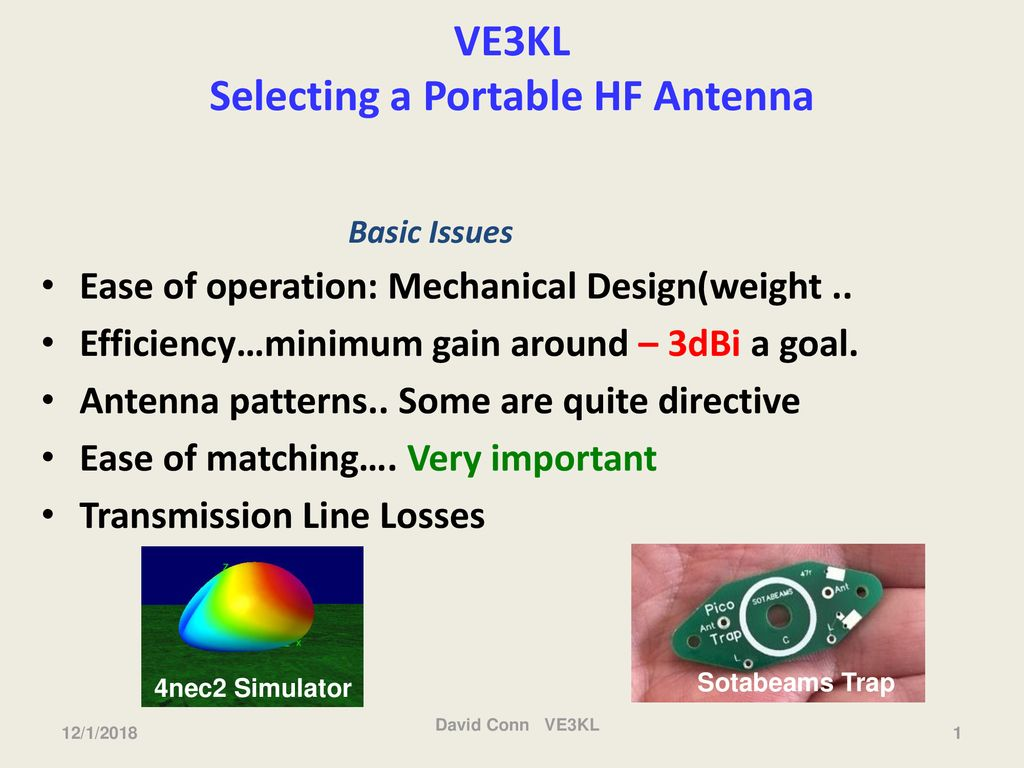 VE3KL Selecting a Portable HF Antenna - ppt download