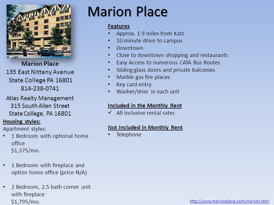 Psu Law Student Housing Options State College Pa Ppt Video